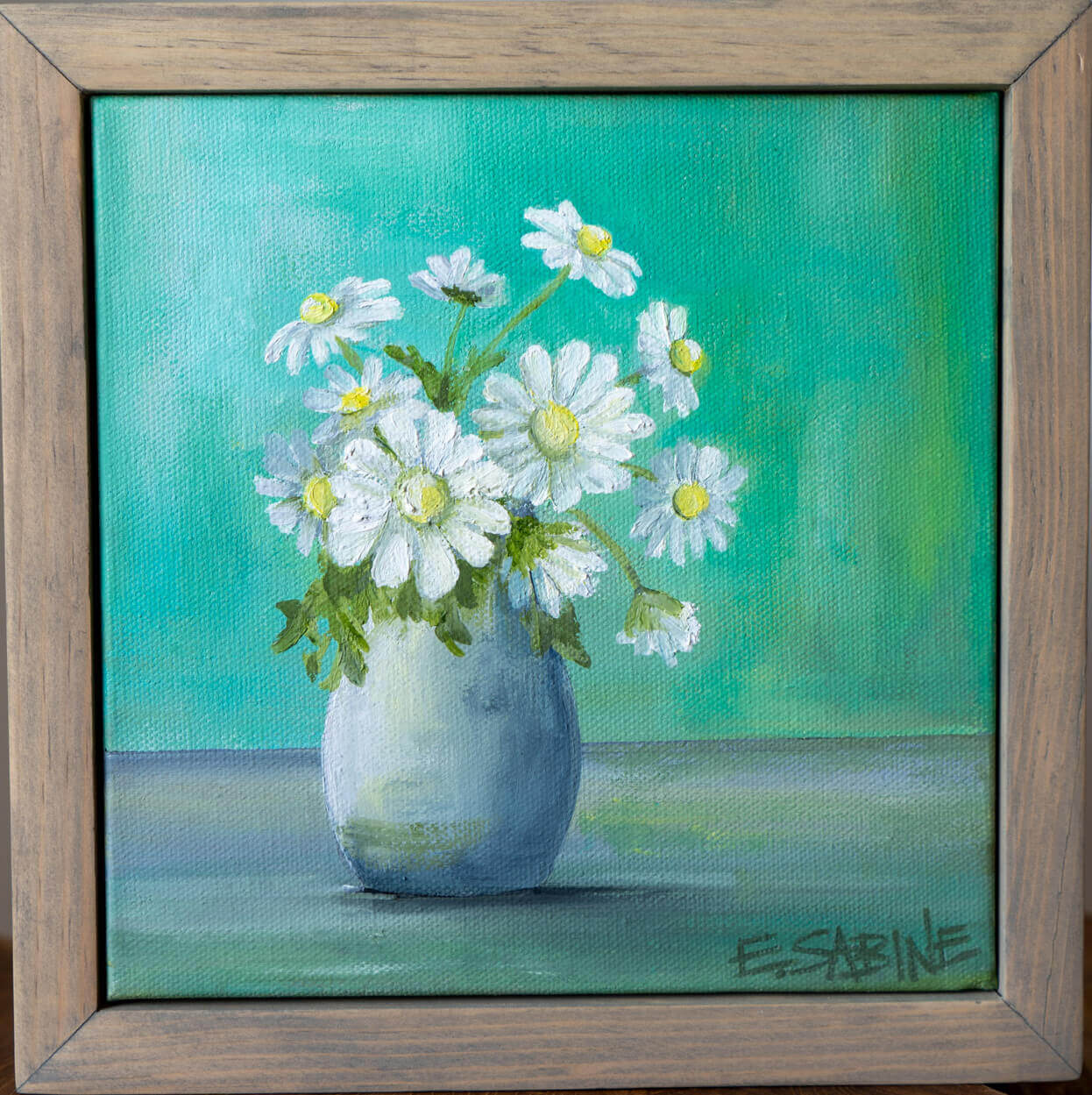 Daisys in vase 8 x 8